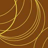 Καφετί υπόβαθρο, κίτρινες παχιές και λεπτές γραμμές στις καμπύλες απεικόνιση αποθεμάτων