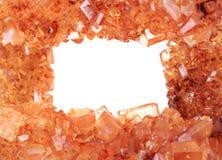 Καφετί υπόβαθρο κρυστάλλων ζάχαρης Στοκ εικόνες με δικαίωμα ελεύθερης χρήσης