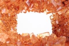 Καφετί υπόβαθρο κρυστάλλων ζάχαρης Στοκ Εικόνα