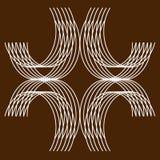 Καφετί υπόβαθρο, μήτρα της διάστασης αλυσίδων γραμμών ελεύθερη απεικόνιση δικαιώματος