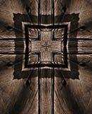 Καφετί υπόβαθρο με το σταυρό στο ξύλο απεικόνιση αποθεμάτων