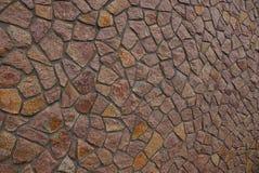 Καφετί υπόβαθρο πετρών από το ίδρυμα με τις μεγάλες πέτρες Στοκ Εικόνες