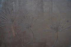 Καφετί υπόβαθρο τοίχων Στοκ Εικόνα