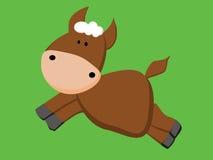 καφετί χαριτωμένο άλογο Στοκ εικόνα με δικαίωμα ελεύθερης χρήσης