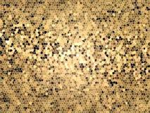Καφετί χρυσό υπόβαθρο μωσαϊκών Στοκ Εικόνες