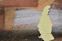 Καφετί χρώμα γκράφιτι αποφλοίωσης Στοκ εικόνα με δικαίωμα ελεύθερης χρήσης