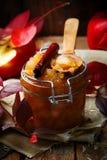 Καφετί applesauce ζάχαρης και κανέλας Στοκ Εικόνες