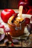 Καφετί applesauce ζάχαρης και κανέλας Στοκ Εικόνα