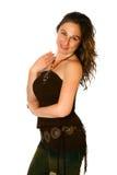 καφετί brunette περιστασιακό Στοκ φωτογραφία με δικαίωμα ελεύθερης χρήσης