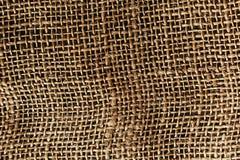 Καφετί burlap Το ύφασμα Η σύσταση Στοκ εικόνα με δικαίωμα ελεύθερης χρήσης