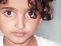 καφετί eyed κορίτσι στοκ φωτογραφίες