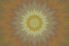 Καφετί floral καλειδοσκόπιο σχεδίων λουλουδιών αφηρημένος υπνωτικός απεικόνιση αποθεμάτων