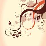 Καφετί floral υπόβαθρο Στοκ Εικόνα