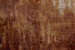 Καφετί grunge υπόβαθρο μετάλλων με το διάστημα για το κείμενο ή την εικόνα Στοκ Εικόνες