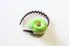 Καφετί Headband και πράσινο Hairband Στοκ Εικόνες