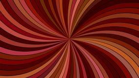 Καφετί psychedelic αφηρημένο σπειροειδές υπόβαθρο λωρίδων ακτίνων στοκ εικόνα