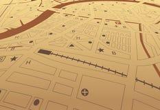 καφετί streetmap ελεύθερη απεικόνιση δικαιώματος