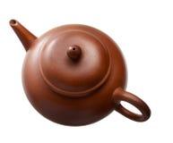 Καφετί Teapot πήλινου είδους Στοκ Εικόνες