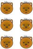 Καφετί Teddy αντέχει emoticons Στοκ Φωτογραφία
