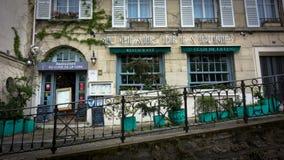 Καφετερίες σε Montmartre Παρίσι, Γαλλία στοκ εικόνες