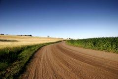 Καφετιά άνεμος εθνική οδός στοκ φωτογραφία με δικαίωμα ελεύθερης χρήσης