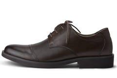 Καφετιά ανθρώπινα παπούτσια Στοκ Εικόνα