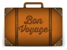 Καφετιά απεικόνιση τσαντών αποσκευών στοκ φωτογραφία