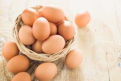 Καφετιά αυγά κοτόπουλου Στοκ φωτογραφία με δικαίωμα ελεύθερης χρήσης