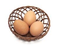 καφετιά αυγά λίγος φρέσκ&omic στοκ εικόνες