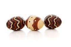 καφετιά αυγά Πάσχας τρία Στοκ εικόνες με δικαίωμα ελεύθερης χρήσης