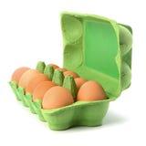 καφετιά αυγά περίπτωσης Στοκ Εικόνες