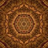 Καφετιά αφηρημένη σύσταση καλειδοσκόπιων Mandala στοκ εικόνα