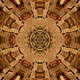 Καφετιά αφηρημένη σύσταση καλειδοσκόπιων Mandala στοκ φωτογραφίες