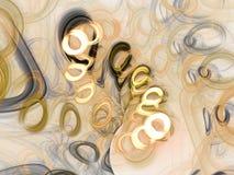 Καφετιά αφηρημένη fractal τρισδιάστατη δίνοντας απεικόνιση υποβάθρου ελεύθερη απεικόνιση δικαιώματος