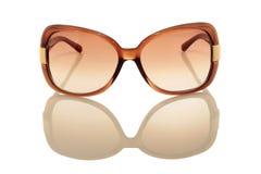 καφετιά γυαλιά ηλίου Στοκ Φωτογραφίες