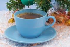 καφετιά διακόσμηση καφέ Χριστουγέννων στοκ φωτογραφία με δικαίωμα ελεύθερης χρήσης