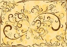 καφετιά διακόσμηση Στοκ εικόνα με δικαίωμα ελεύθερης χρήσης