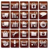 Καφετιά εικονίδια 26-50 Ιστού Στοκ φωτογραφία με δικαίωμα ελεύθερης χρήσης