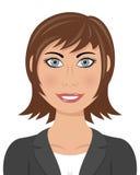 Καφετιά επιχειρησιακή γυναίκα τριχώματος ελεύθερη απεικόνιση δικαιώματος
