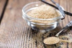 Καφετιά ζάχαρη βανίλιας Στοκ Εικόνα