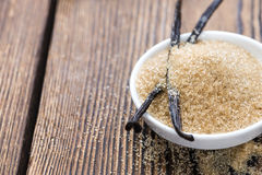 Καφετιά ζάχαρη βανίλιας Στοκ Εικόνες