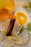 καφετιά ζάχαρη γυαλιού Στοκ Εικόνα