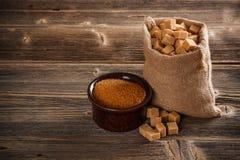 Καφετιά ζάχαρη καλάμων Στοκ φωτογραφίες με δικαίωμα ελεύθερης χρήσης
