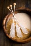 καφετιά ζάχαρη Στοκ Φωτογραφίες