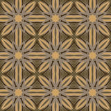Καφετιά διανυσματικά άνευ ραφής σχέδια, επικεράμωση γεωμετρικές διακοσμήσεις Στοκ φωτογραφίες με δικαίωμα ελεύθερης χρήσης