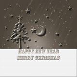 Καφετιά κάρτα Χριστουγέννων στοκ φωτογραφίες