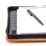 Καφετιά κάλυψη δέρματος του σημειωματάριου συνδέσμων Στοκ φωτογραφία με δικαίωμα ελεύθερης χρήσης