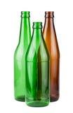 Καφετιά και πράσινα κενά μπουκάλια Στοκ εικόνα με δικαίωμα ελεύθερης χρήσης
