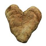 Καφετιά καρδιά πετρών στοκ φωτογραφίες με δικαίωμα ελεύθερης χρήσης