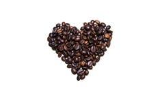 Καφετιά καρδιά Στοκ φωτογραφίες με δικαίωμα ελεύθερης χρήσης